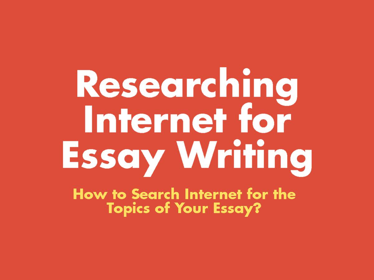 how to write essay 1 - 7 Tricks to Research Using the Internet Writing Your Essays?