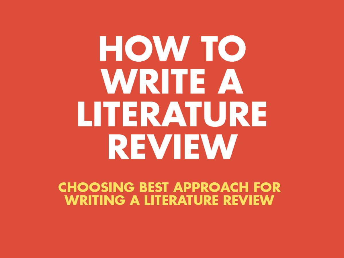 how to write literature review research paper Writing a literature review section a key part of any research paper is the literature review section learn how to research, structure and write this important part of your project.
